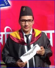 Khagendra Khati Engineer of Dharmadevi Municipality